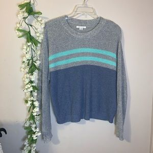 Gray and blue striped sweater American Eagle S